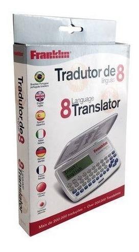 Tradutor Eletrônico Franklin Tg-115 Com 8línguas Com Agenda