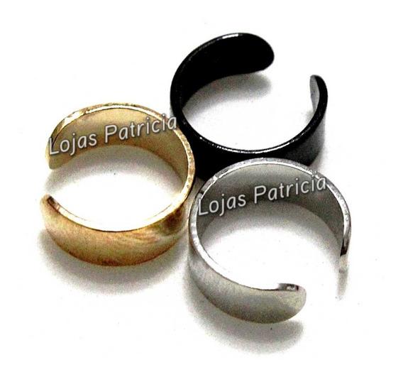 Ear Cuff Brinco Falso Piercing Pressão Prata Preto Dourado 3
