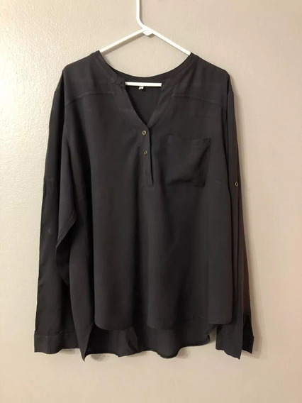 Camisa Camisola Mujer Negra Talle Xxl Nueva