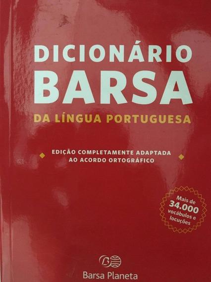 Dicionário Barsa Língua Portuguesa Nova Ortografia