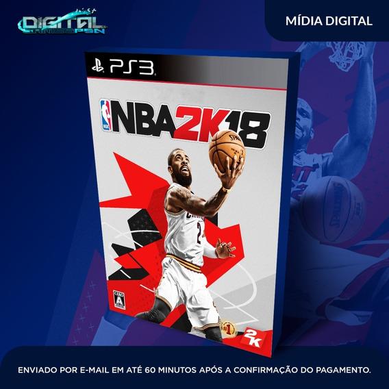Nba 2k18 Ps3 Psn Game Digital Envio 10min.