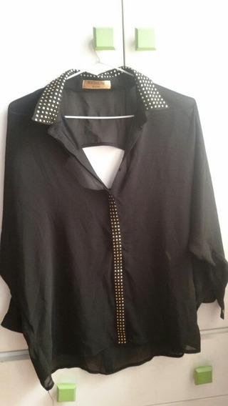 Elegante Camisa Transparente Talle M