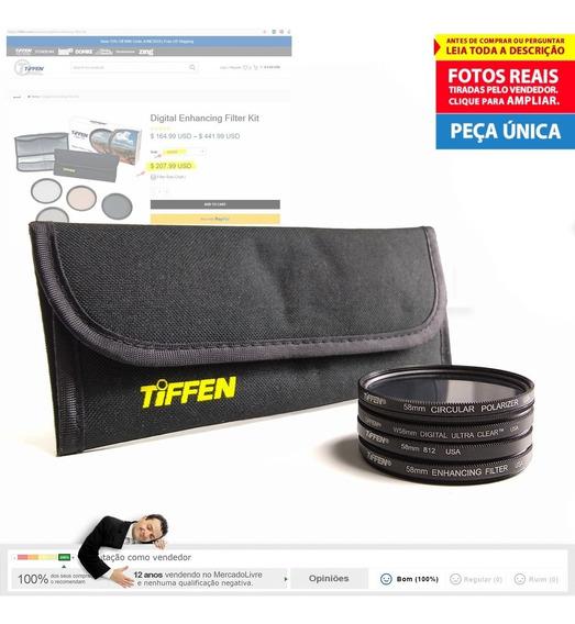 Kit 4 Filtro 58mm Tiffen Polarizador... +bolsa +frete Grátis