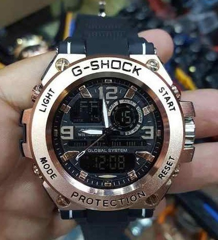 Relógio De Luxo Rosê - Aro De Metal - 100% Funcional
