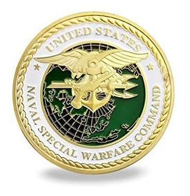 Moeda Comemorativa Naval Special Warfare Command Usa