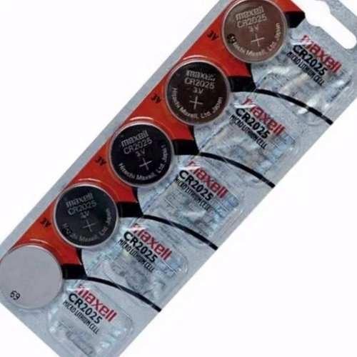 Bateria Cr2025 Maxell Original Kit C/5 Na Cartela 3v