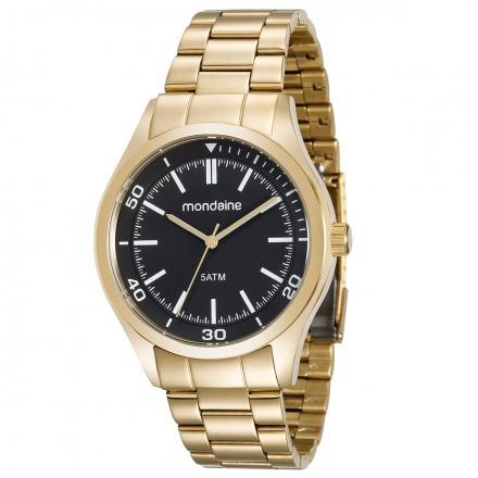 Relógio Mondaine Prata Visor Preto 78733 Gpmvda1