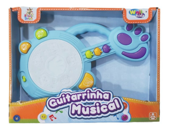 Guitarrinha Musical Infantil Com Luzes E Sons Bebê Brinquedo