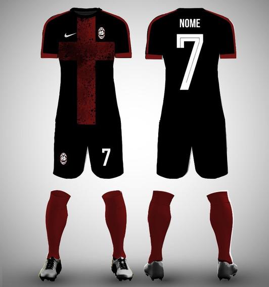 Kit Com 10 Uniforme Camisa E Short D Futebol Personalizado