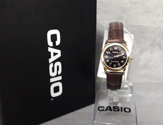 Relógio Casio Feminino Ltp-v001gl-1budf - Nf + Garantia
