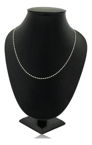 Imagen 1 de 5 de Cadena Torzal Diamantada Plata Ley .925 45 Cm X 2 Mm