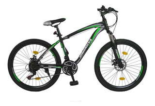 Bicicleta Mavericks Mountain Bike R26 Verde 21 Vel. Suspenci