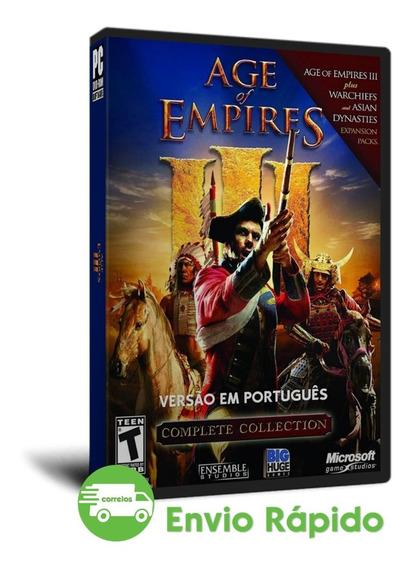 Age Of Empires 3 Complete Collection Português Pc Mídia Física (dvd)