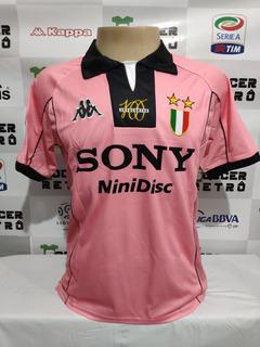 Camisa Juventus Rosa Centenar 1997/98 Zidane 21 À P/ Entrega
