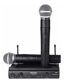 Microfone Duplo Weisre Pgx-58 P/ Palestras Igreja Boate