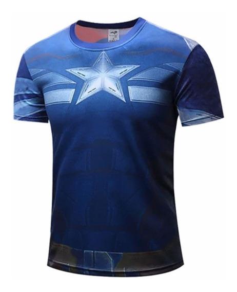 Camisetas Super Heróis Homem De Ferro Capitão América Venom