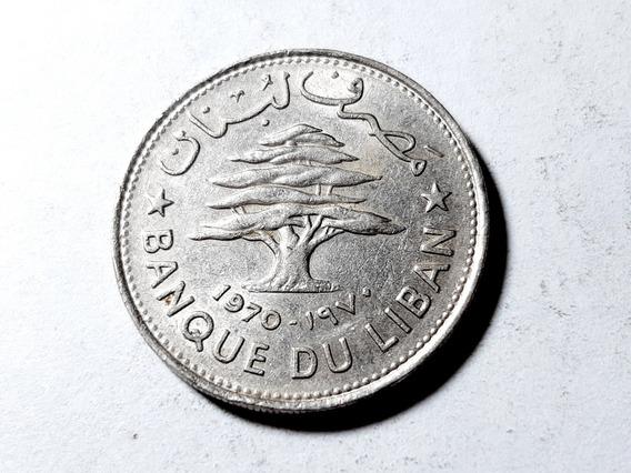 Moneda Líbano 50 Piastras, 1970 Níquel Km# 28 Lote 4294