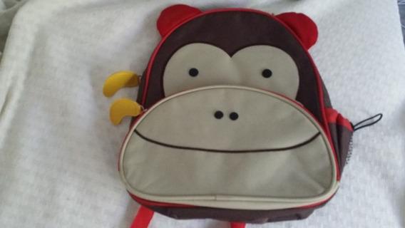 Mochila Escolar Zoo Animales Mono