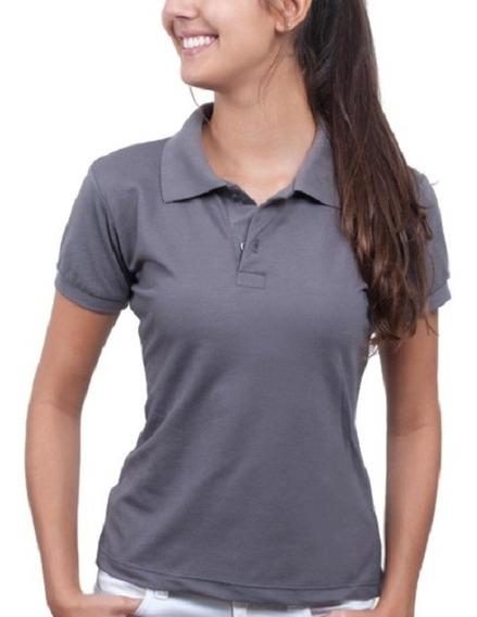 Camiseta Camisa Blusa Feminina T-shirt Gola Polo Clássica