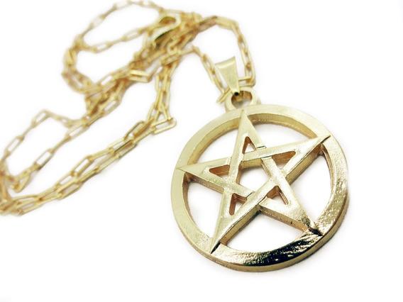 Colar Supernatural Pentagrama Vazado
