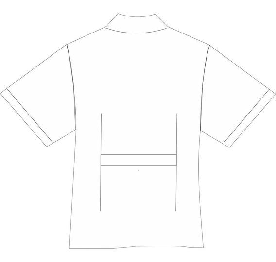 Jaleco Infanti Mangas Curtas Em Oxford Cor Branco - 6 Ao 12