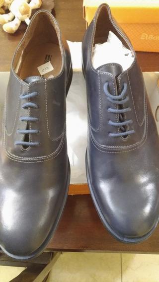Par De Zapatos De Cuero Legitimo Batistella Número 44 Azul