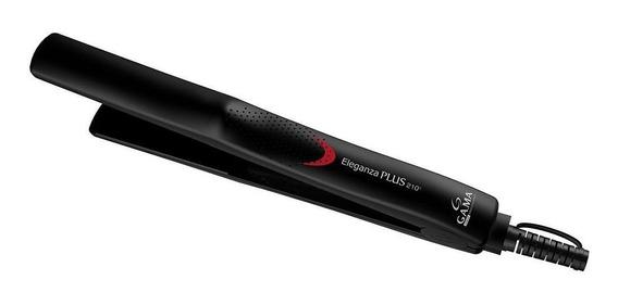 Prancha de cabelo GA.MA Italy Eleganza Plus preta com placas de cerâmica 110V/220V - APP2205