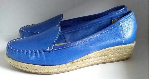 Mocasines De Dama Via Uno Color Azul