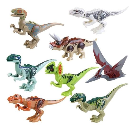 Kit Jurassic Park 8 Dinossauros Brinquedo Pvc - Promoção!
