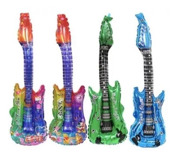 Globo Metálico De Guitarra Set De 4 Piezas