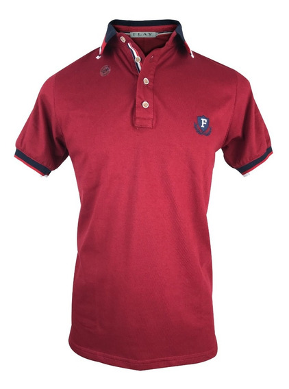Playera Tipo Polo Rallado Color Slim Fit Ropa Casual Hombre