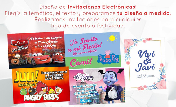 Invitación Digital Virtual Whatsapp Cumple Infantil, 15 Años