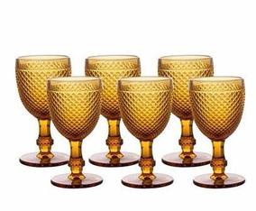 Jogo 6 Taças Para Água Bico De Jaca Âmbar Bon Gourmet R25871
