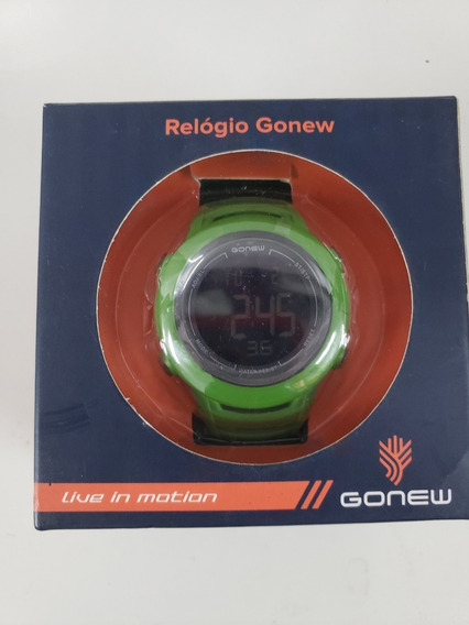 Relogio Gonew Energy Ii Verde Militar