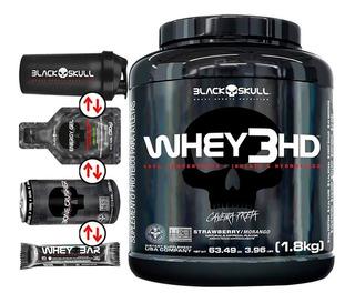 Whey Protein Concentrado 3hd 1,8kg Caveira Preta Black Skull