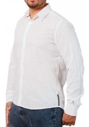 Camisa Social Lisa: Lino Bianco Argento 3-g