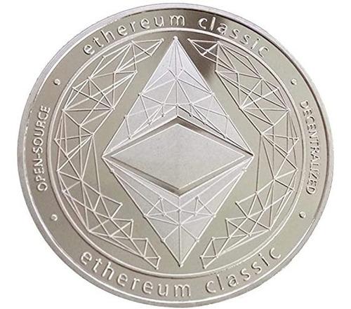 Moneda Ethereum Classic Color Plata
