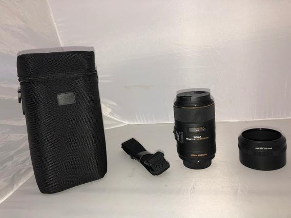 Lente Sigma 105mm F2.8 Ex Dg Macro Os