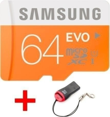 Cartão Micro Sdxc 64gb Samsung Evo