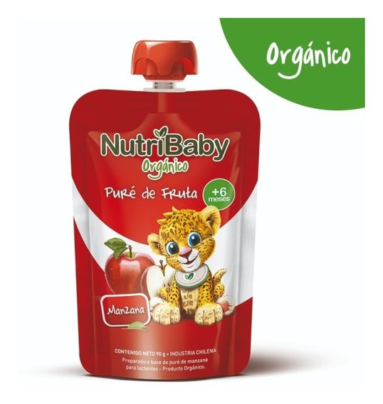 Nutribaby Organico Papilla Manzana Pouch Caja X 24 Unids