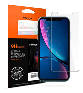 Pelicula Vidro Original Spigen iPhone Xr Glas.tr Slim Hd