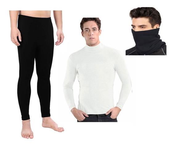 Combo X3 Ropa Termica Pantalon / Buso Alto / Cuello Invierno