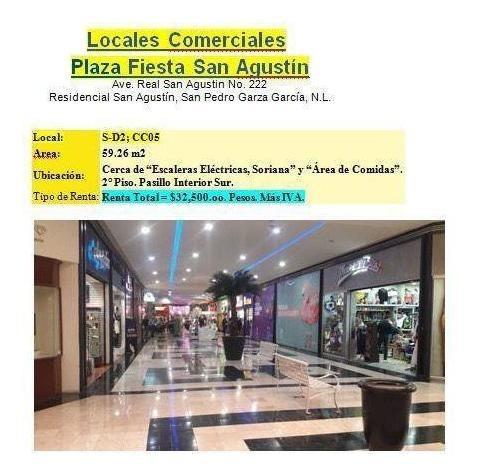 Renta Local Comercial Plaza Fiesta San Agustin