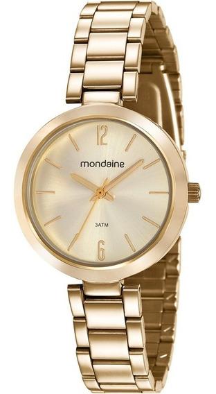 Relógio Feminino Mondaine Dourado 53611lpmvde1 Pequeno