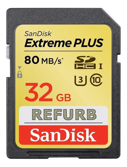 Cartão 32gb Sandisk Sdhc Extreme 80mb/s - Full Capacity