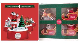 Coleccion Navidad Coca Cola Trineo + Cajas Musicales