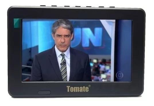 Tv Digital Portátil Led Monitor Hd 9 Polegadas Usb Sd Tomate