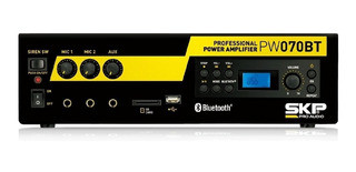 Amplificador Skp Local Comercial Bluetooth Pw-070bt