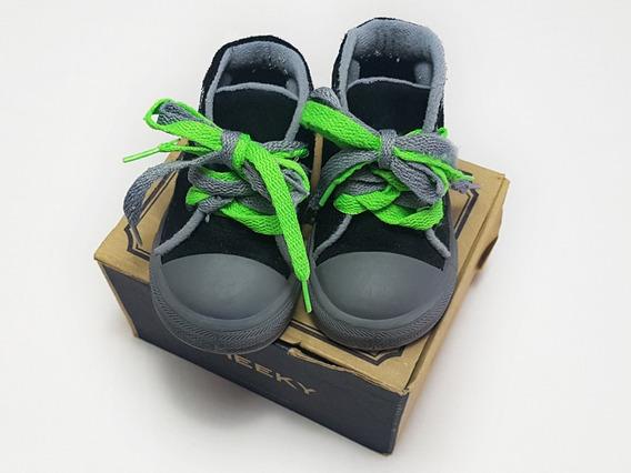 Zapatillas Tipo Botitas Color Negro Cheeky Talle 20