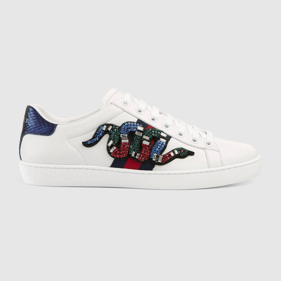 Gucci Snake Ace Embroidered Sneaker